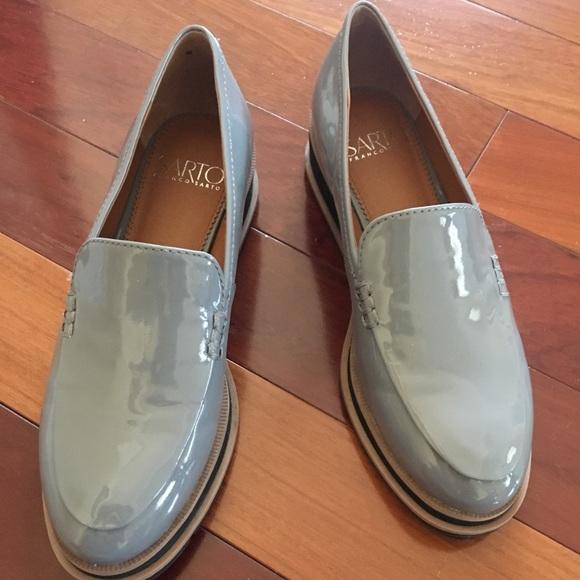 7ab8411f700 Franco Sarto Shoes - Franco Sarto Cypress Patent Grey Loafers